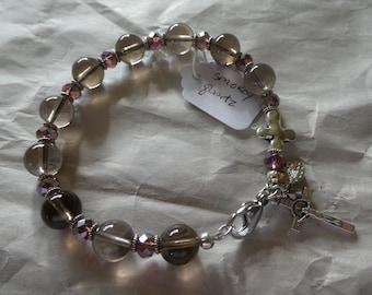 Smokey Quartz Rosary Bracelet
