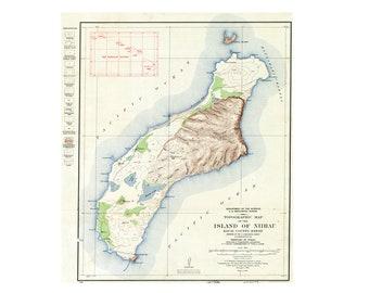 Topo map hawaii | Etsy