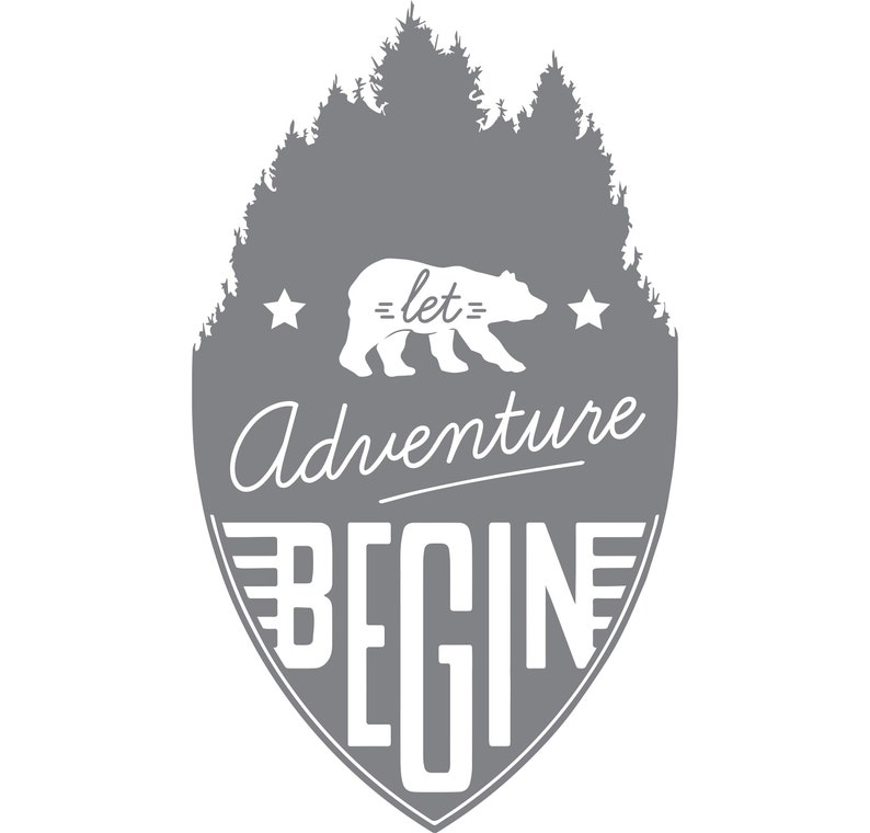 For Shower Doors Etched Decal Let Adventure Begin Glass Doors and Windows 45.5 tall x 26.5 wide Into the Woods Series