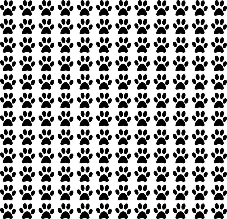 144 Paw Print Decals 4 x 4 Each