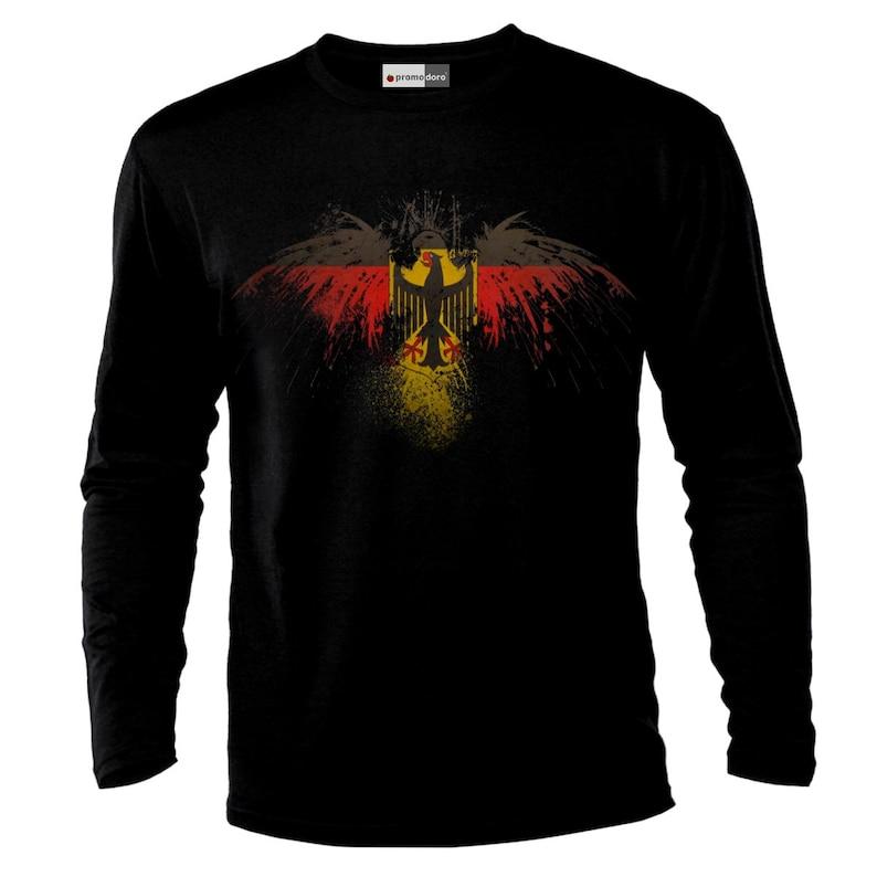 German Eagle Germany Deutschland Deutsche Flagge Longsleeve Shirt T-Shirt