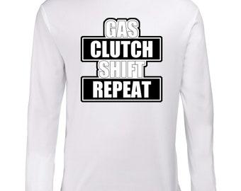 Gas Clutch Shift Repeat Longsleeve Shirt T-Shirt