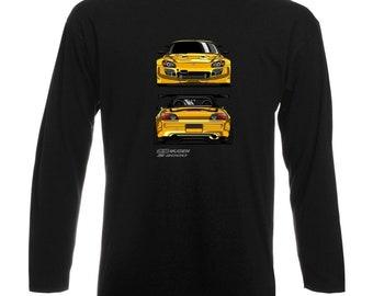 Honda S2000 Black Longsleeve Shirt T-Shirt