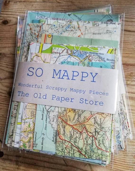 So Mappy // Map pieces packs // Great for Decoupage and junk | Etsy