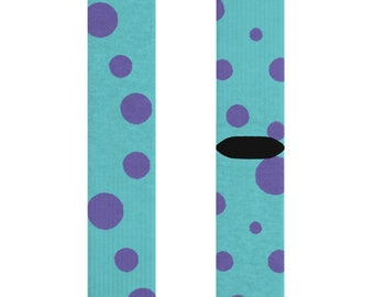 Monsters Inc Sully Pattern Sublimation Socks