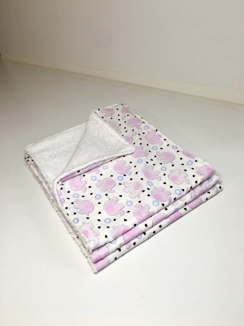 Pink Elephant Burp Cloths Baby Shower Gifts Pack of Three Spit Cloths