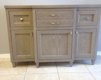 White Oak Console Cabinet