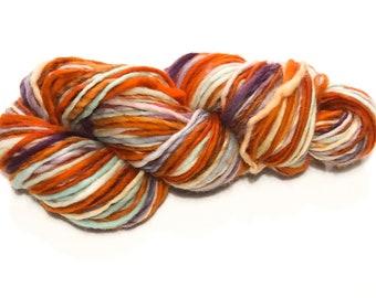 Single ply heavy worsted weight yarn | 4oz. 146yards | Soft | Warm | Handdyed | Handspun | Cheviot wool | Garden