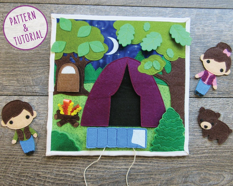 Camping Quiet Book Page  PATTERN & TUTORIAL image 0