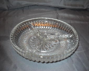 Small Clear Glass Relish Dish