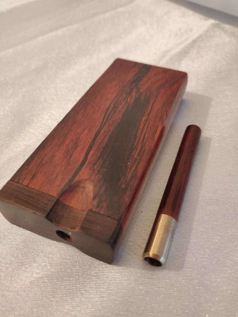 Rosewood Dugout One Hitter Set Brass Screens Included 100/% Brass Bat with Rosewood Adornment
