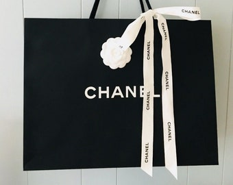 15f86086bea73f Chanel Shopping Gift Tote Bags with Camellia Flower and Chanel Ribbon LG /  MED / SM