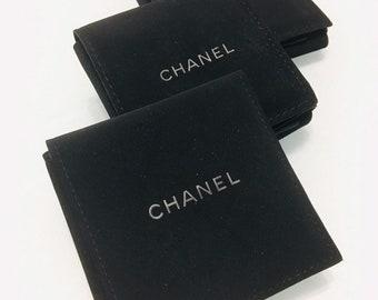 """63cda255179c CHANEL (1) One 3"""" X 3"""" Brooch Earrings / Jewelry Empty Velvet Storage Case"""