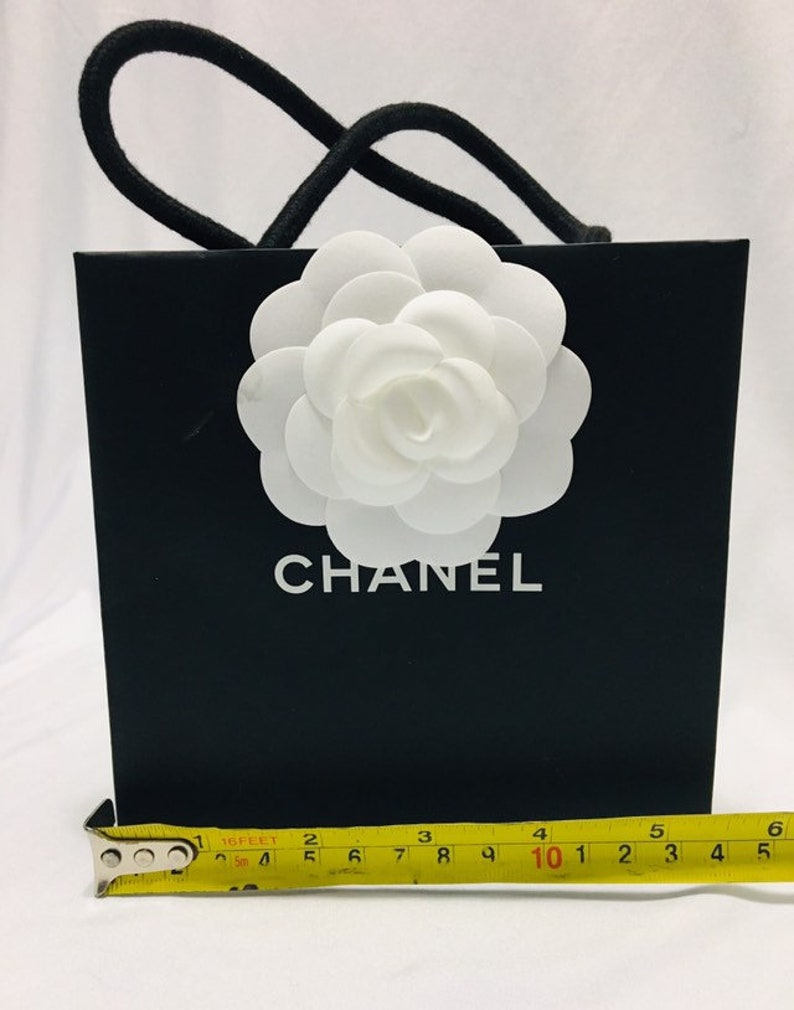 8ad7606b84cf CHANEL MINI Shopping Gift Tote Bag with Camellia Flower RARE | Etsy