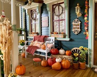 Dollhouse Miniature Autumn Throw, Scale 1:12