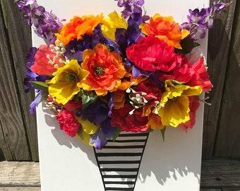 3D Flower Canvas Art