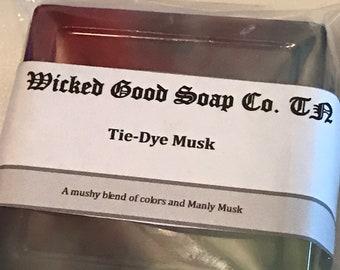 Tie Dye Musk Clear Glycerin Soap