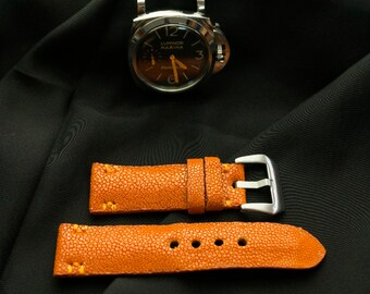 52ced498d6e 22 24 26 mm Panerai Watch Strap Genuine Stingray Leather. Gift for Him