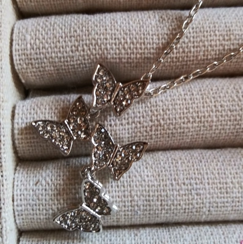 Into the Garden Crystal Butterfly Necklace