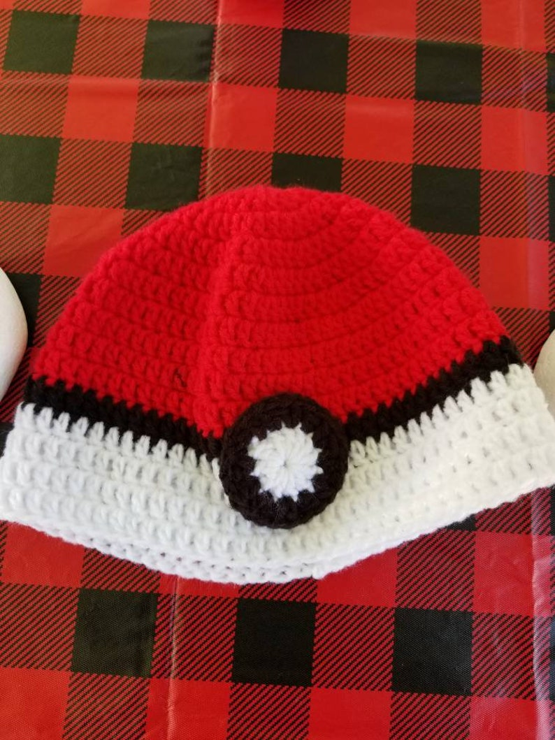 Pok\u00e9mon Crocheted Hat