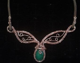 Wire wrapped fairy necklace