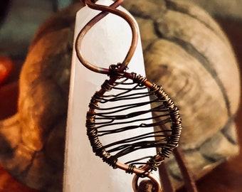 Wire wrapped goddess bracelet