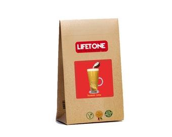 Turmeric Latte, Blend with Coconut,Ceylon Cinnamon,Ginger,Pepper,Clove and Honey : 20 Sachets, 40g