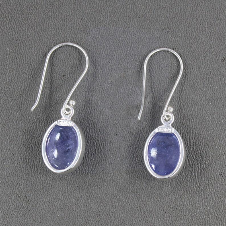 Tanzanite Dangle Earrings Tanzanite Earrings Sterling Silver Tanzanite Earrings December Birthstone Tanzanite