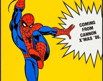 1985 SPIDERMAN Original Movie Theater Poster