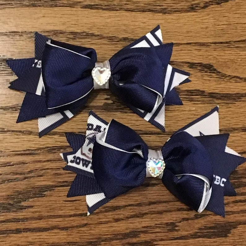 Football Toddler Hair Bow Set