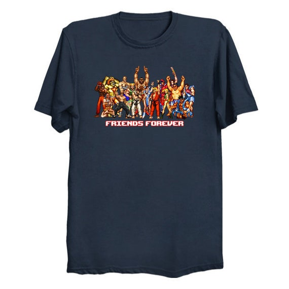 Friends From The Streets T Shirt Street Fighter T Shirt Streetfighter T Shirt Ryu Bison Dhalsim Zangief Guile