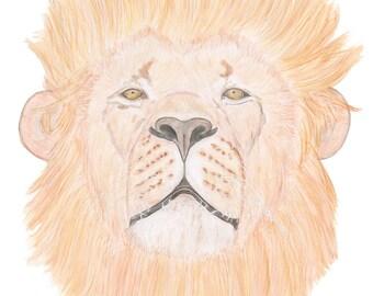 Lion Art Animal Art Fierce lion Strong Lion Confident Lion Big Cat Art Lion Head Male Lion
