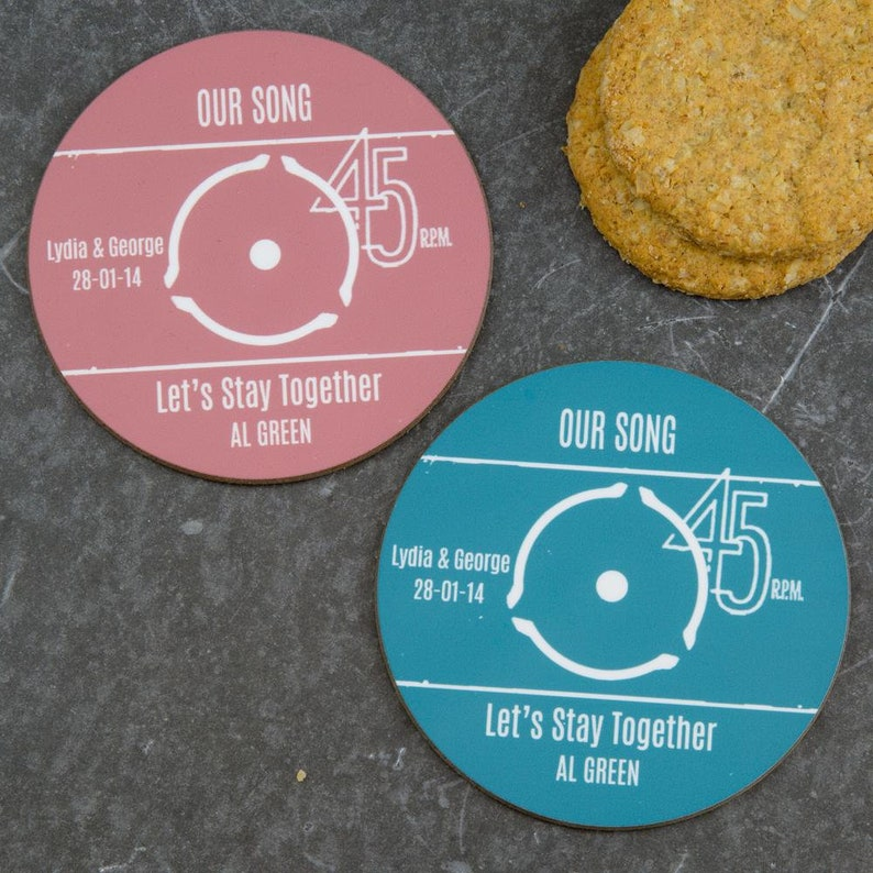 How to make a record label coaster