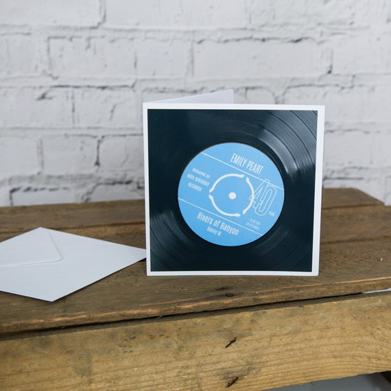 40th Birthday Greeting Card Gift Vinyl Record Coaster Of Etsy