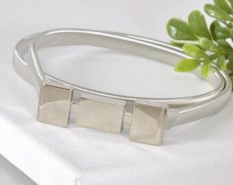 Squares metal buckle belt