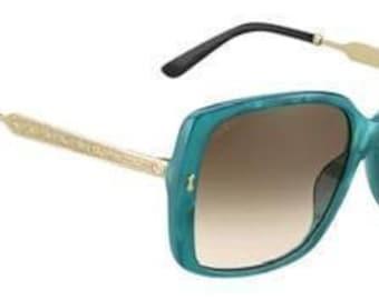 Gucci - turquoise/gold sunglasses