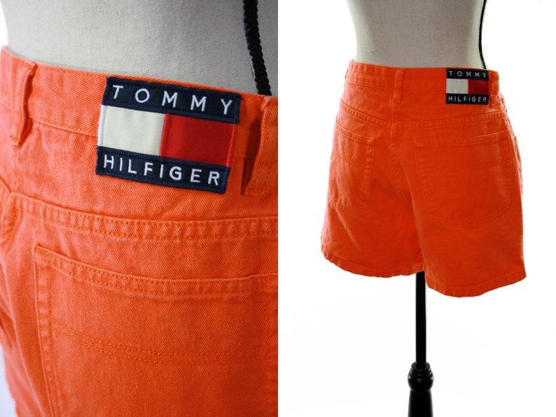 f702148d09 Size 12 Rare 90s Tommy Hilfiger vintage shortsOrange high | Etsy