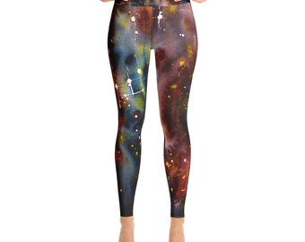 a3378304be199 2 High Waisted Yoga Leggings Abstract Expressionism