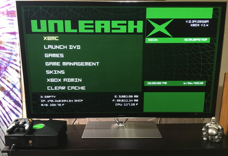 Modded Original Xbox with Coinops 8 Massive and 8000 retro games —  COMPLETELY REFURBISHED