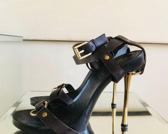 3e69a26a96 Gucci Tom Ford Strappy Stiletto Sandals