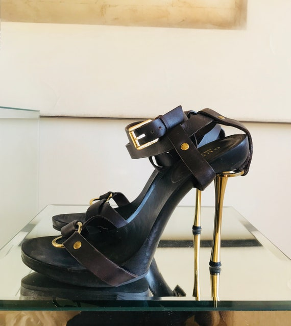 Gucci Tom Ford Strappy Stiletto Sandals