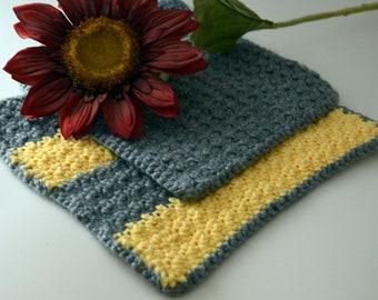 Homemade Crochet Washcloths, Set of 2