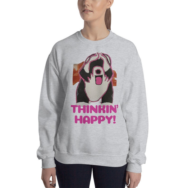 THINKIN' HAPPY Sweatshirt Sheepdog image 0