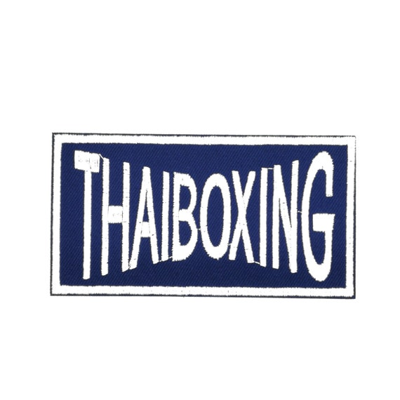 Muay Thai Boxing Iron On Patch Sew On Clothes Bag Embroidery Embroidered Badge