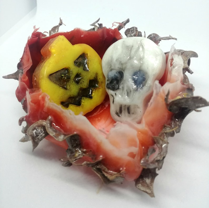 Halloween decoration bowl. Unique Ring Plate. Fall Home Decor. image 0