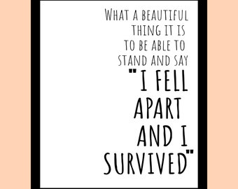 Stand Strong // Print // A4 // Typography // Quote // Home decor // Wall art