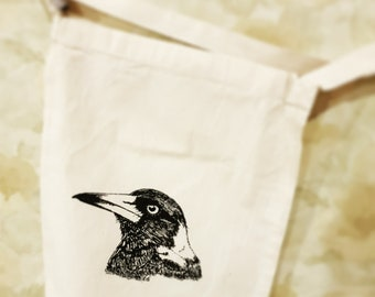Magpie canvas bag