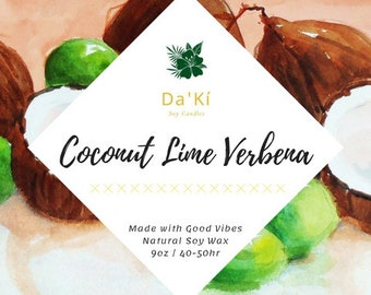Coconut Lime Verbena | Soy Candle
