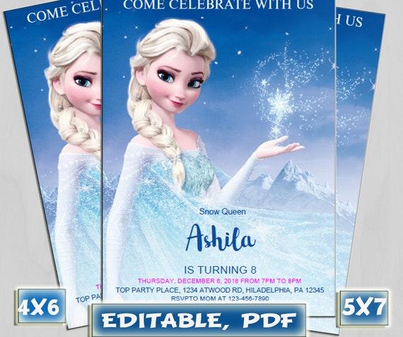 99 Frozen Birthday Invitations Download
