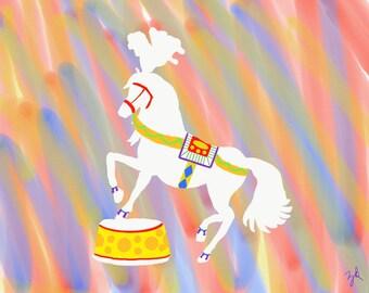 Gypsy the Prancing Circus Horse 8X10 Print